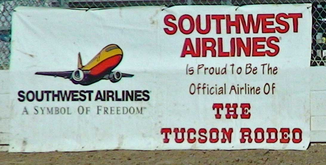 Victory Southwest Airlines Flies Away From Rodeo